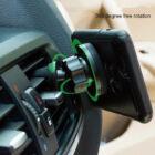 Mágneses, szellőzőrácsba illeszthető mobiltartó FEKETE