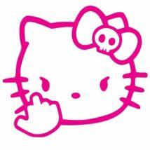 Hello Kitty f*ck you matrica, pink