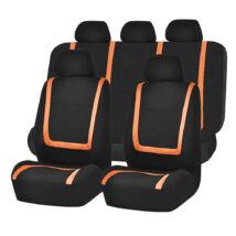 Narancs-fekete univerzális autó üléshuzat 9 részes