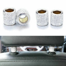 Autó fejtámla strassz dekor gyűrű, ezüst, 2db