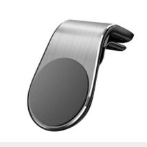 """Mágneses, szellőzőrácsba illeszthető """"L-shape"""" mobiltartó - ezüst"""