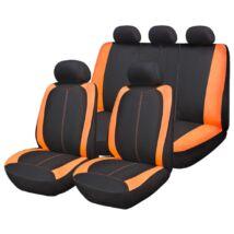Narancssárga fekete mintás csajos üléshuzat szett 9 részes