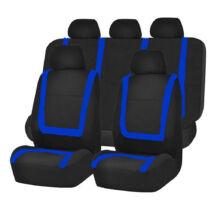 Kék-fekete univerzális autó üléshuzat 9 részes