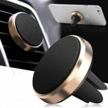 Mágneses, szellőzőrácsba illeszthető mobiltartó gold