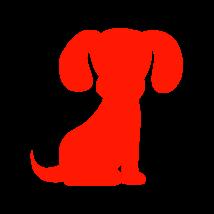 Kölyök kutya autó matrica piros #210