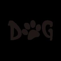 Dog tappancs felirat autó matrica fekete #231