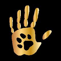 Tenyérben a tappancs autó matrica arany #239
