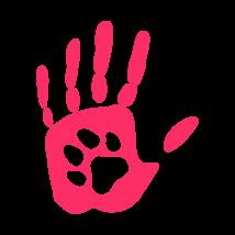 Tenyérben a tappancs autó matrica pink #238