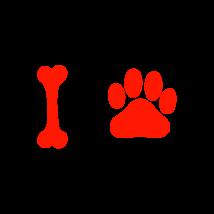 Csont-mancs autó matrica piros #245