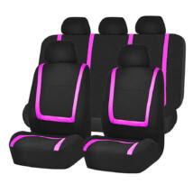 Pink-fekete univerzális csajos autó üléshuzat 9 részes