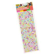 Öntapadós dekor strassz kövek multicolor 504db 6 mm