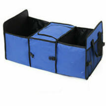 Csomagtér tároló, 3 rekeszes, középen termó rekesszel, kék