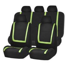 Zöld-fekete univerzális autó üléshuzat 9 részes