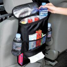 Sok zsebes tároló, hőszigetelt belsővel FEKETE