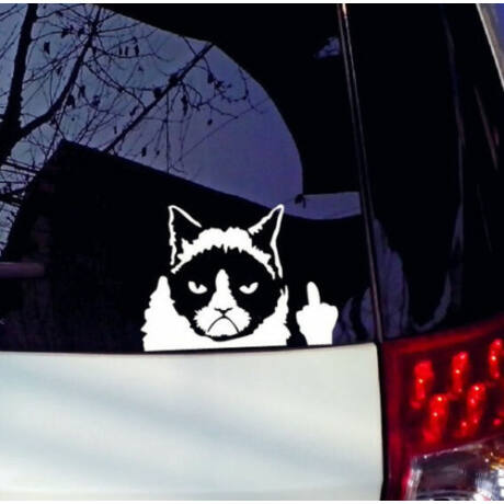 Grumpy Cat szélvédő autó matrica