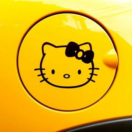 Hello Kitty tanksapka autó matrica, fekete