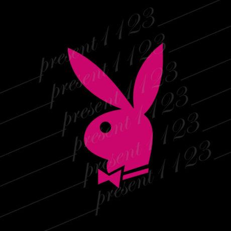 Playboy nyuszi matrica pink