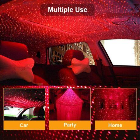 USB led projektor beltéri party világítás PIROS