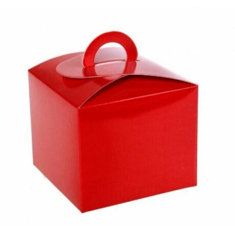 Piros ajándék doboz 10*10 cm
