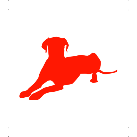 Dalmata kutya autó matrica piros #170