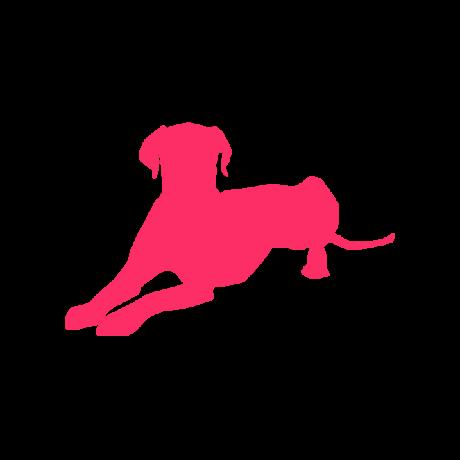 Dalmata kutya autó matrica pink #168