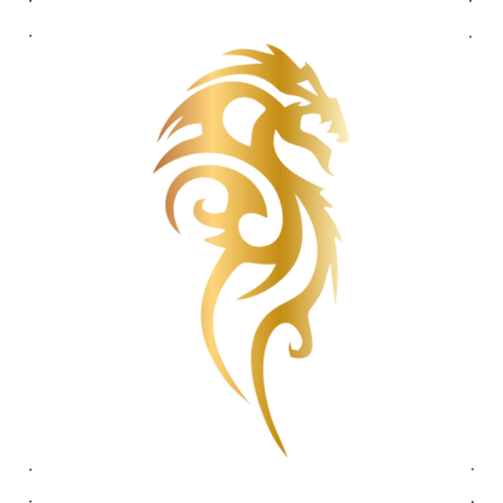 Jobbra néző sárkány autó matrica arany #259