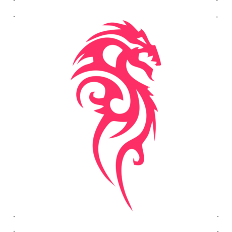 Jobbra néző sárkány autó matrica pink #258