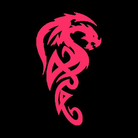 Repülő sárkány autó matrica pink #272
