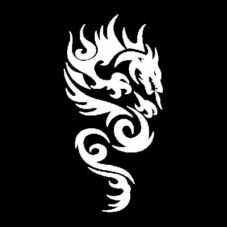 Tűzokádó sárkány autó matrica fehér #276
