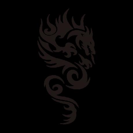 Tűzokádó sárkány autó matrica fekete #275