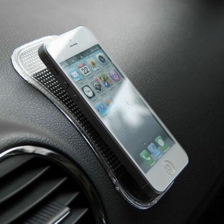 Mágikus, tapadó és csúszásgátló mobiltartó színtelen