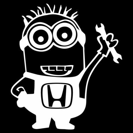 Honda szerelő minyon autó dekor matrica, fehér