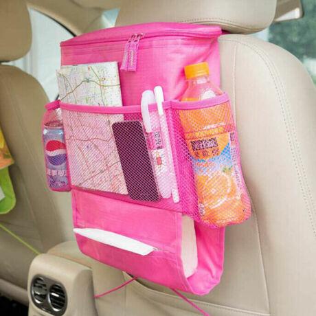 Sok zsebes tároló, hőszigetelt belsővel HOT PINK