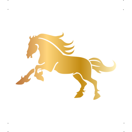 Vágtató ló autó matrica arany #313
