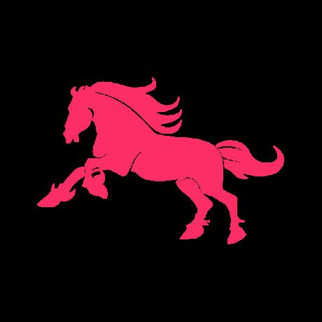 Vágtató ló autó matrica pink #312