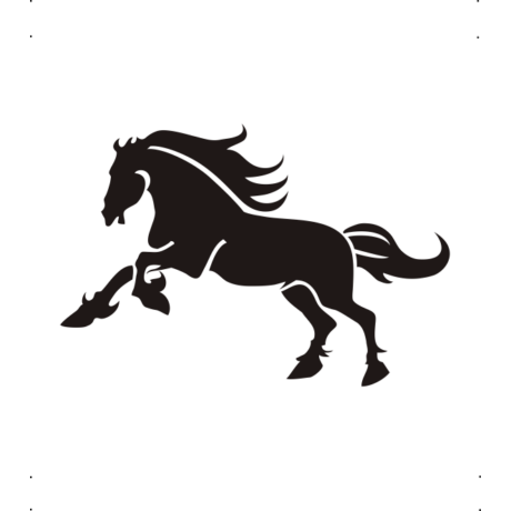 Vágtató ló autó matrica fekete #310