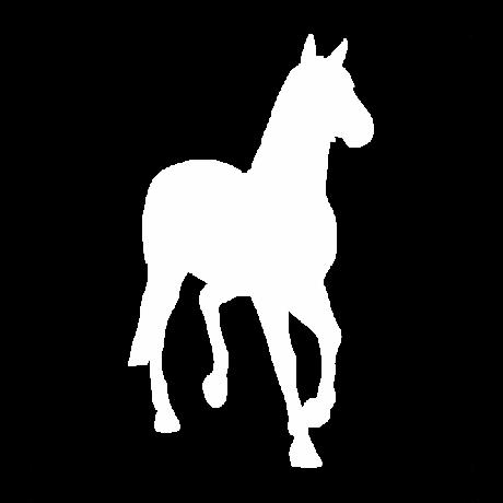 Lépegető ló autó matrica fehér #331