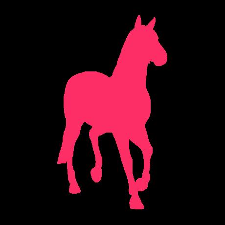 Lépegető ló autó matrica pink #332