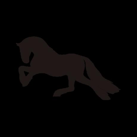 Balra futó ló autó matrica fekete #335