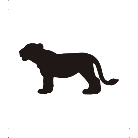 Kölyök oroszlán autó matrica fekete #350