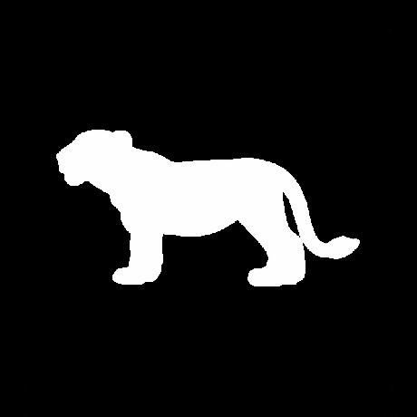 Kölyök oroszlán autó matrica fehér #351