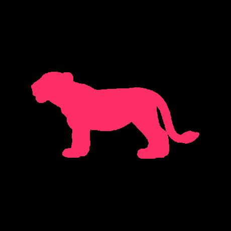 Kölyök oroszlán autó matrica pink #352