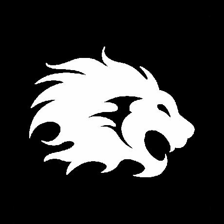Nagy sörényű oroszlán autó matrica fehér #361