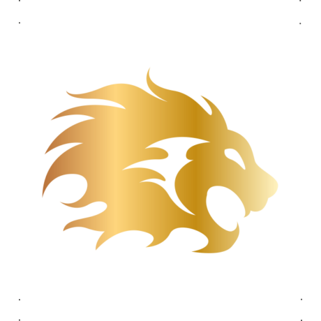 Nagy sörényű oroszlán autó matrica arany #363