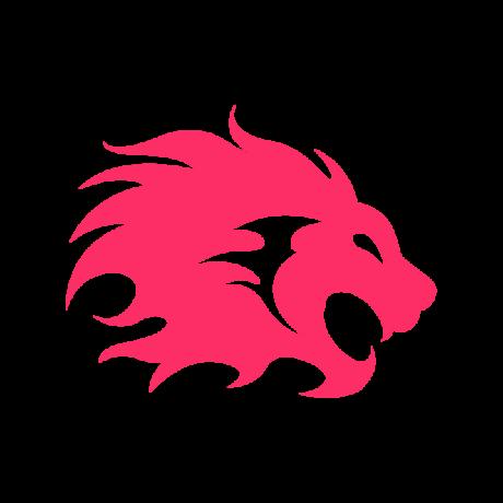 Nagy sörényű oroszlán autó matrica pink #362