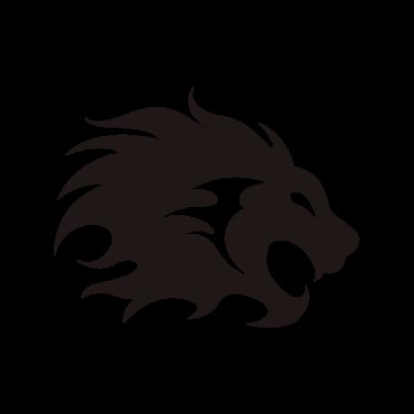 Nagy sörényű oroszlán autó matrica fekete #360