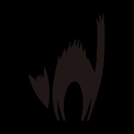 Felborzolt macska autó matrica fekete #375