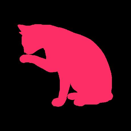 Mosakodó macska autó matrica pink #382
