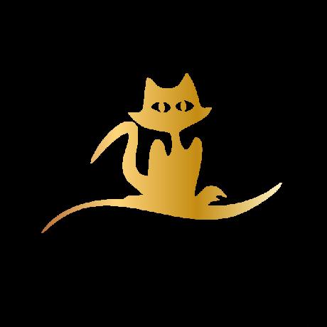Nagyszemű macska autó matrica arany #398
