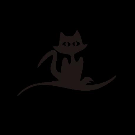 Nagyszemű macska autó matrica fekete #395